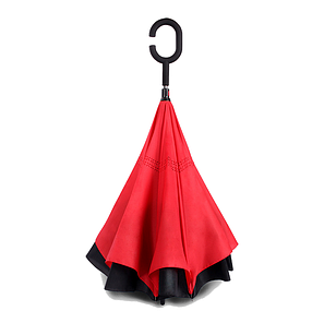 Зонт наоборот Up Brella однотонный Красный PR2, фото 2