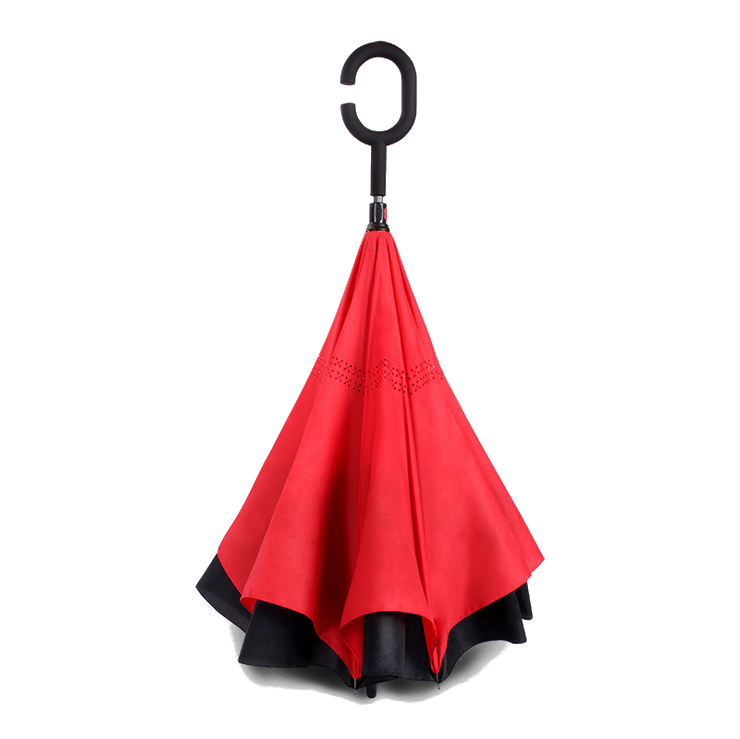 Зонт наоборот Up Brella однотонный Красный PR2