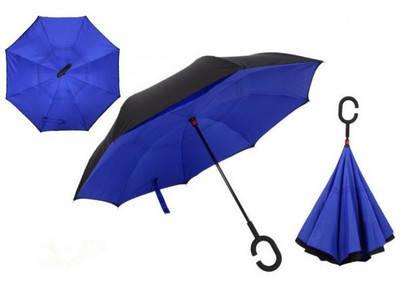Зонтик одноцветной umbrella СИНИЙ № F08-A (50шт/ящ) 4,3 PR2, фото 2