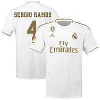 Детская футбольная форма Реал Мадрид SERGIO RAMOS 4 ( Испания, Примера ) 2019-2020 основная белая, фото 1