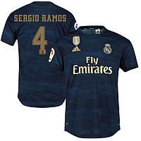 Футбольная форма Реал Мадрид SERGIO RAMOS 4 ( Испания, Примера ) 2019-2020 выездная синяя, фото 1