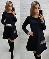 Новинка! Стильное трикотажное платье с длинным рукавом, арт 178