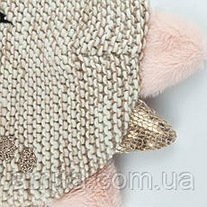 Шапка для девочки зимняя Шипастик, бежевый Berni, фото 2