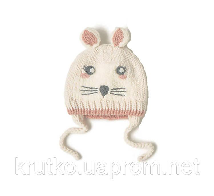 Шапка для девочки зимняя Стеснительная мышка Berni