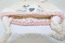 Шапка для девочки зимняя Стеснительная мышка Berni, фото 2