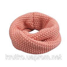 Шапка + снуд для девочки зимняя Гармония, розовый Berni, фото 3