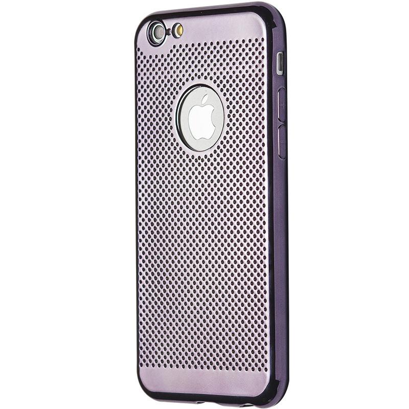 Чехол  хром Перфорация for Apple iPhone 6/6S (grey)