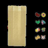 Бумажный пакет без ручек крафтовый 160х70х40мм (ВхШхГ) 40г/м² 100шт (89)