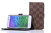 """Samsung Alpha G850F Оригинальный кожанный чехол книжка  для телефона """"LOUIS VUITTON"""", фото 2"""