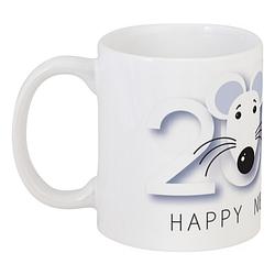 Кружка Новогодняя 2020 - Год Мышки (белая)
