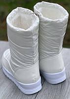 Ботинки женские зимние 8 пар в ящике белого цвета 36-41, фото 2