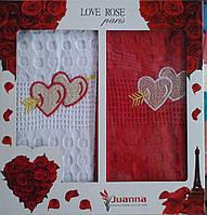 Набор кухонных полотенец Juanna Love Rose Турция коробка