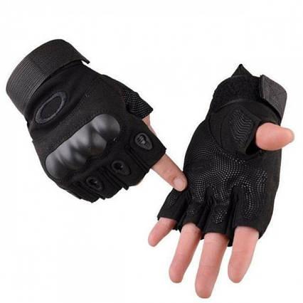 Тактические беспалые перчатки (велоперчатки, мотоперчатки)Oakley Black XL