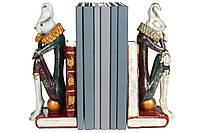 Набор (2шт) держателей для книг Белый кролик 30см