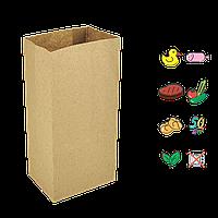 Бумажный пакет без ручек с прямоугольным дном 170х120х280мм (ШхГхВ) 50г/м² 100шт (91)