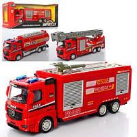 Машинка AS-2124 АвтоСвіт, мет., інерц., пожежна, 1:43, 3 види, кор., 25-11-7 см.