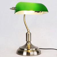 """Лампа настольная E27 зеленая, """"Ретро"""" 40см"""