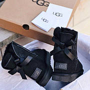 Женские угги в стиле UGG Australia Mini Black One Stripe