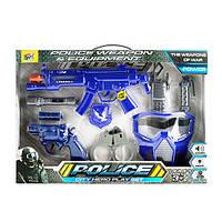Набір зі зброєю 111A-1 автомат, пістолет, маска, ліхтарик, муз., світло, бат.(таб.), кор., 46-32-6см