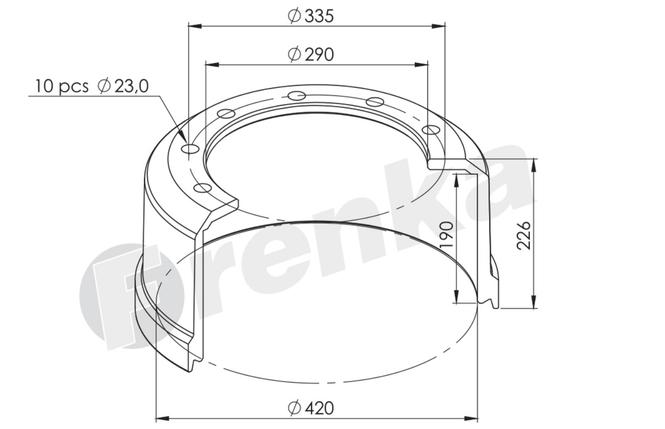 Барабан тормозной BPW-ECO 420x180 закручивающаяся шпилька, фото 2