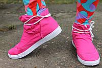 Розовые кеды на шнуровке