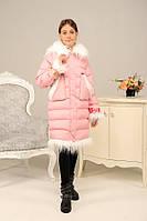 Зимний пуховик - пальто «Лаура» на девочку 9-18 лет (эко-пух, р. 36-44 / 134-158) ТМ MANIFIK 4 цвета