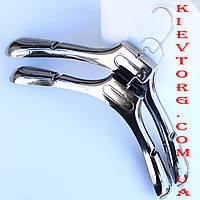 Вешалки плечики для шуб, зимней верхней одежды серебро, 40 см
