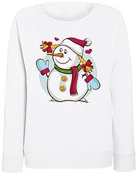 Женский свитшот Снеговик (белый)