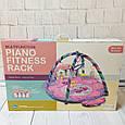 Развивающий коврик для детей Piano Fitness Rack/ розовый, зеленый, фото 3