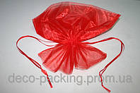 Красный пакет из органзы (40cm*50cm)