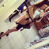 Пальто женское Трансформер коричневое , осеннее пальто