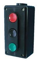 Пост кнопочный SLA4-3 10A 230/400B (1 красная NO+NC + 1 черная NO+NC + 1 зеленая NO+NC) Solard