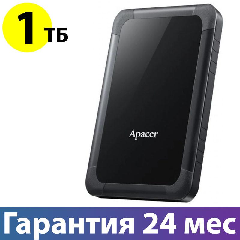 "Внешний жесткий диск 1 Тб/Tb Apacer AC532, Black, 2.5"", USB 3.1, ударопрочный (AP1TBAC532B-1)"
