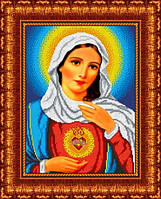 Схема для вышивки на габардине Святое сердце Марии