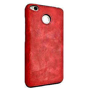 Чехол кожа Sitched Xiaomi Redmi 4X (red)