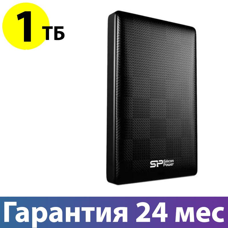 """Внешний жесткий диск 1 Тб/Tb Silicon Power Diamond D03, Black, 2.5"""", USB 3.0 (SP010TBPHDD03S3K)"""