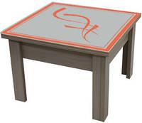 Стол-трансформер 2 в 1 (цветное стекло с изображением пескоструй)