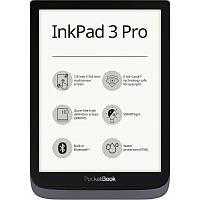 Электронная книга PocketBook InkPad3 Pro 740 Metallic Grey (PB740-2-J-CIS), 7.8 (1872х1404) E Ink Carta, 300 dpi, сенсорный с подсветкой, ОЗУ 1 ГБ, 16