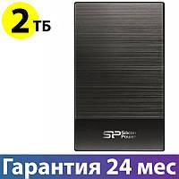 """Внешний жесткий диск 2 Тб Silicon Power Diamond D05, Black, 2.5"""", USB 3.0 (SP020TBPHDD05S3T)"""