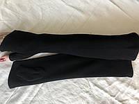 Женские длинные митенки длина 50 см цвет черный