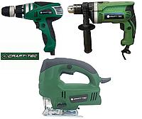 Набор электроинструмента Craft-tec 3в1: Дрель, Сетевой шуруповерт, Лобзик.