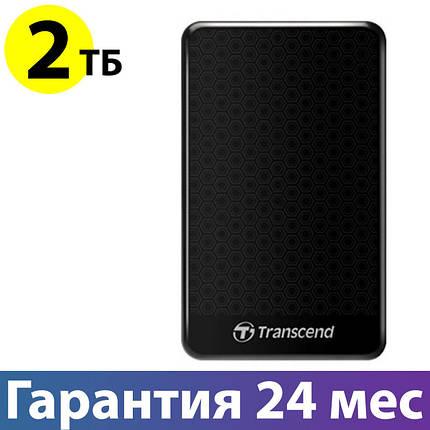 """Внешний жесткий диск 2 Тб/Tb Transcend StoreJet 25A3, Black, 2.5"""", USB 3.0 (TS2TSJ25A3K), фото 2"""