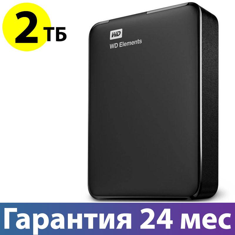 """Внешний жесткий диск 2 Тб/Tb WD Elements Desktop, Black, 2.5"""", USB 3.0 (WDBU6Y0020BBK-WESN)"""