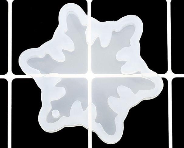 Силиконовый молд, форма, кулон, Снежинка