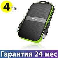 "Внешний жесткий диск 4 Тб Silicon Power Armor A60, Black, 2.5"", USB 3.0 (SP040TBPHDA60S3K)"