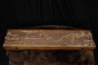Лазерная гравировка на колчанах, футлярах из вяза, фото 2