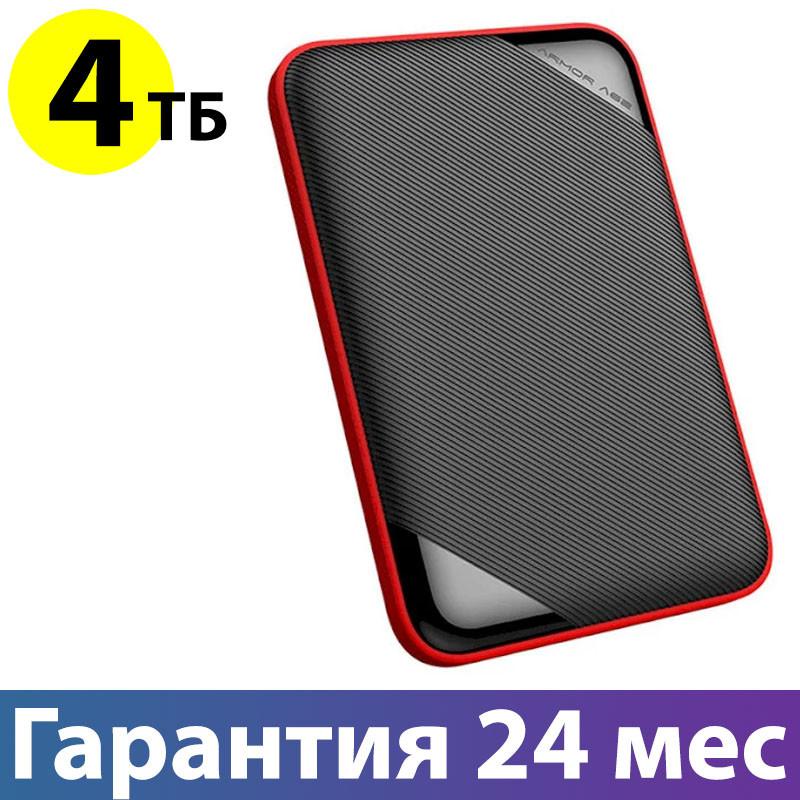 """Внешний жесткий диск 4 Тб Silicon Power Armor A62L, Black, 2.5"""", USB 3.1 (SP040TBPHD62LS3K)"""