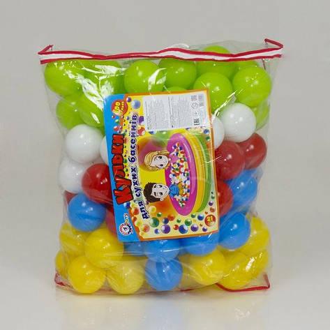 "Гр Набор шариков для сухих басейнов 4548 (2) 100шт, 80мм, ""ТЕХНОК"", в сумке, фото 2"