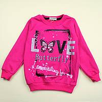 Кофта для девочки Бабочки Love тм Happy Life размер 116,122,128 см