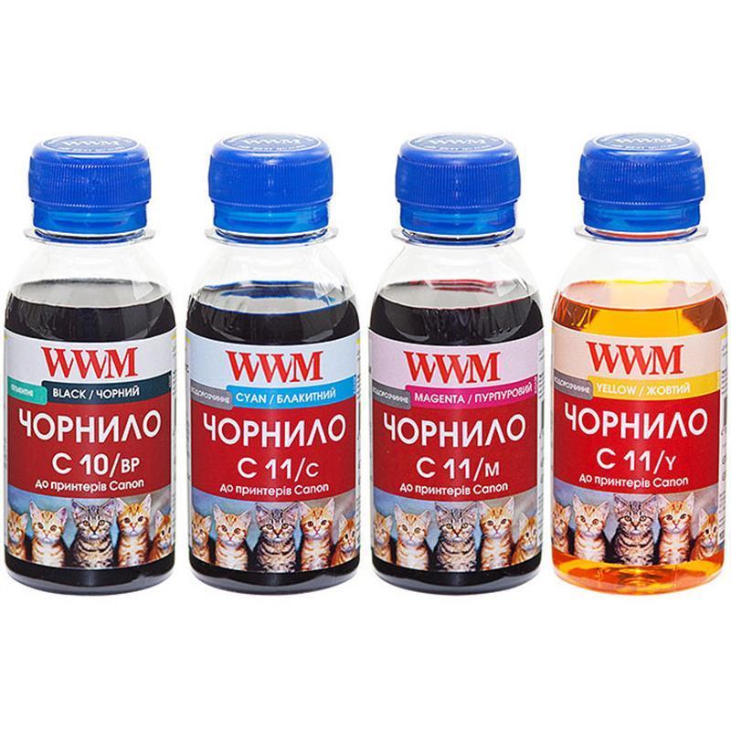 Комплект чернил WWM для CANON PG510BP/CL511 B/C/M/Y C10/11SET 4*100г